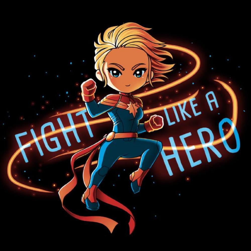 Fight Like a Hero T-Shirt Marvel TeeTurtle