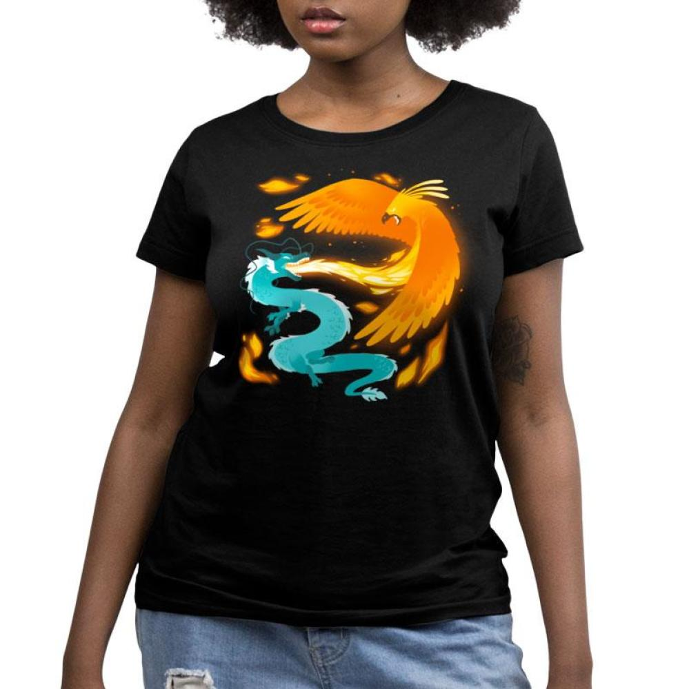 Fire and Ice Women's Relaxed Fit T-Shirt Model TeeTurtle