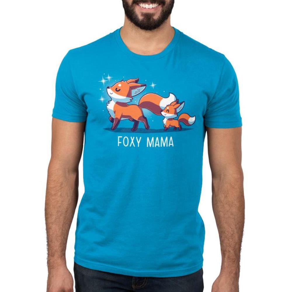 Foxy Mama Men's T-Shirt Model TeeTurtle