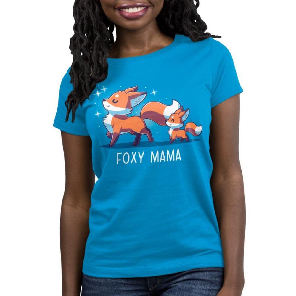 Foxy Mama Women's T-Shirt Model TeeTurtle