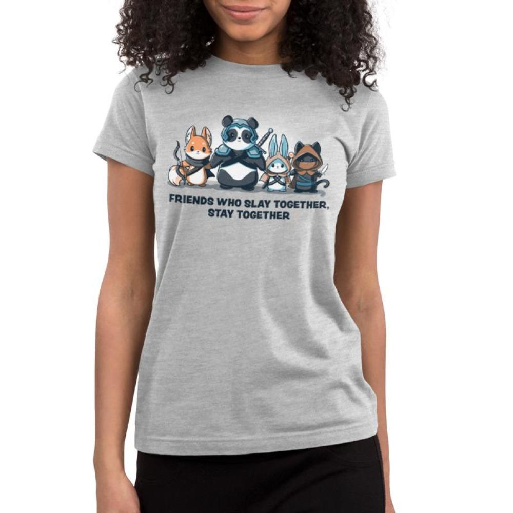 Friends Who Slay Together, Stay Together Juniors T-Shirt Model TeeTurtle