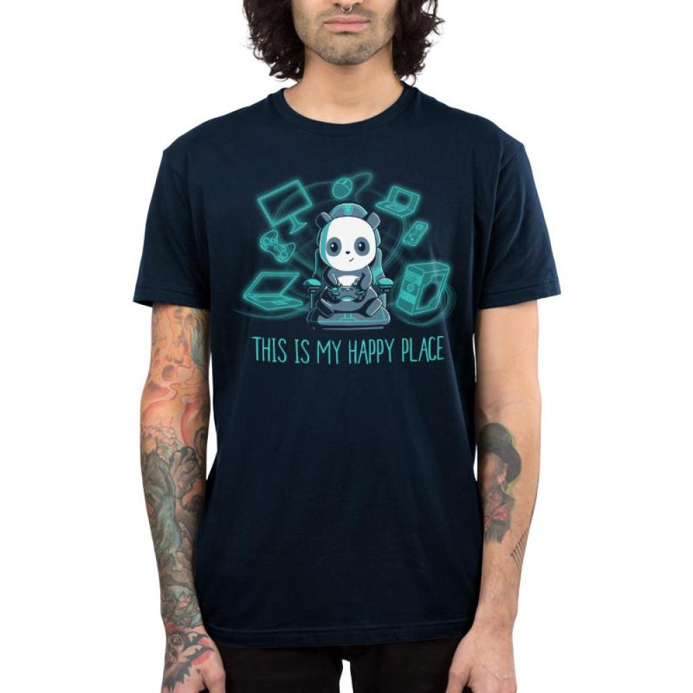Gaming is My Happy Place Men's T-Shirt Model TeeTurtle