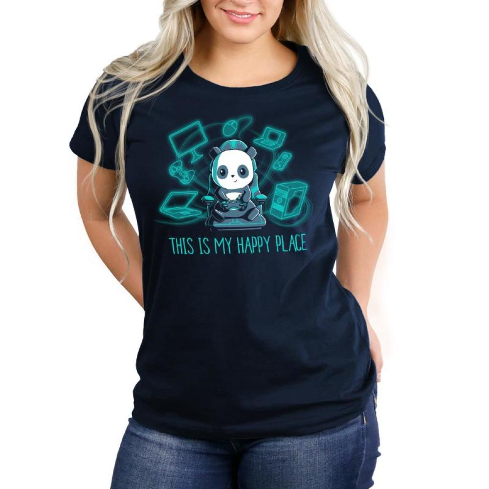 Gaming is My Happy Place Women's T-Shirt Model TeeTurtle