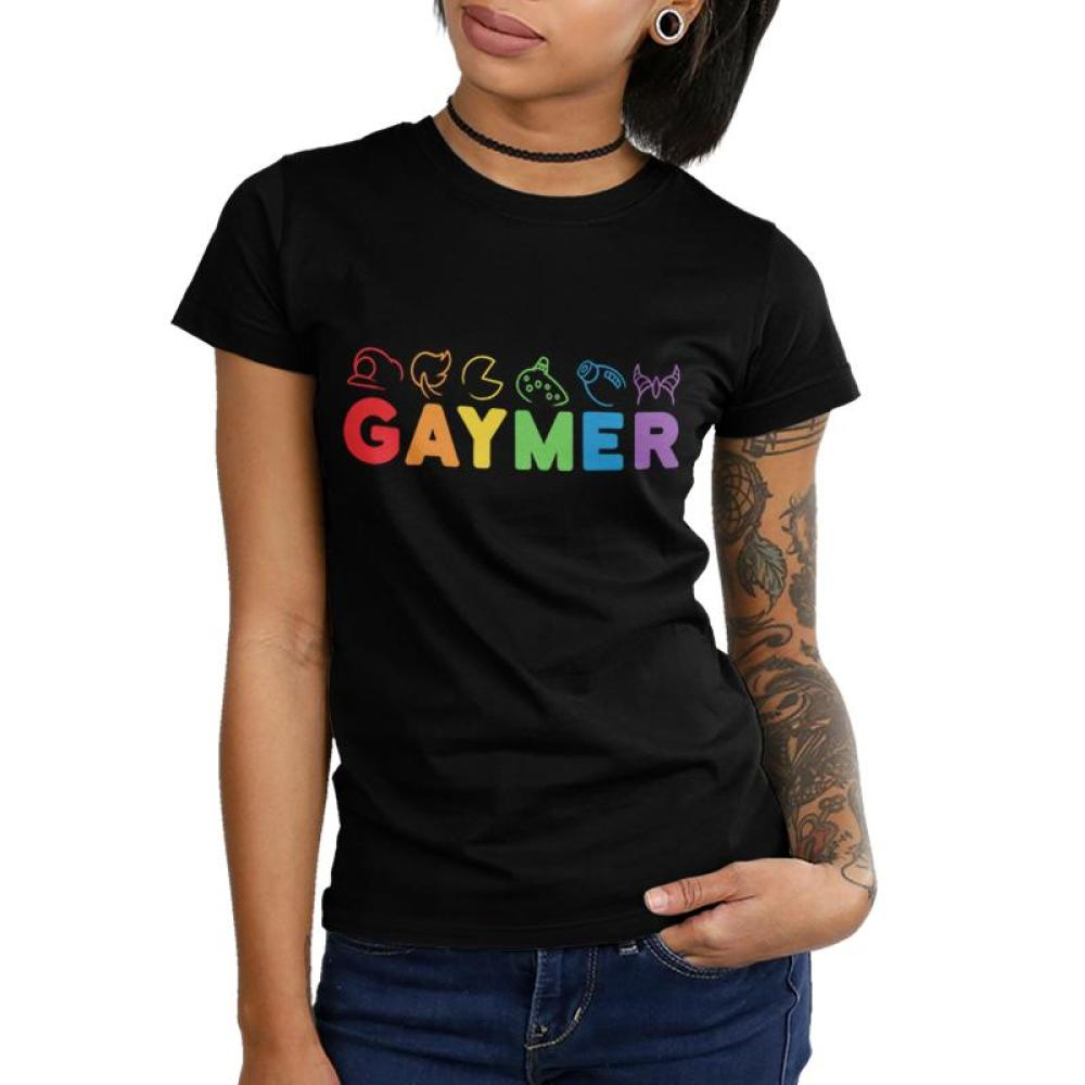 Gaymer Juniors T-Shirt Model TeeTurtle