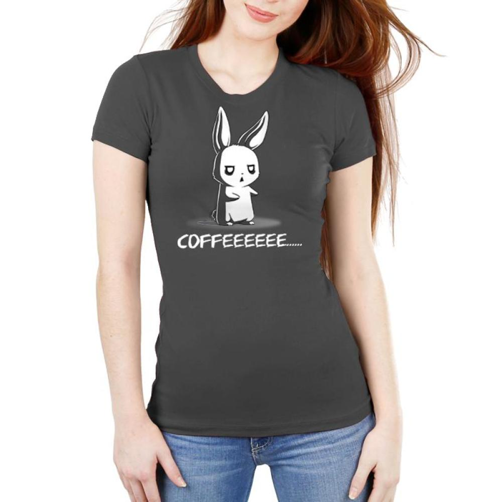 Give Me Coffee Juniors T-Shirt Model TeeTurtle