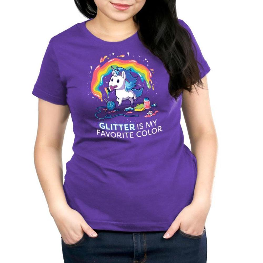 Glitter is My Favorite Color Women's T-Shirt Model TeeTurtle