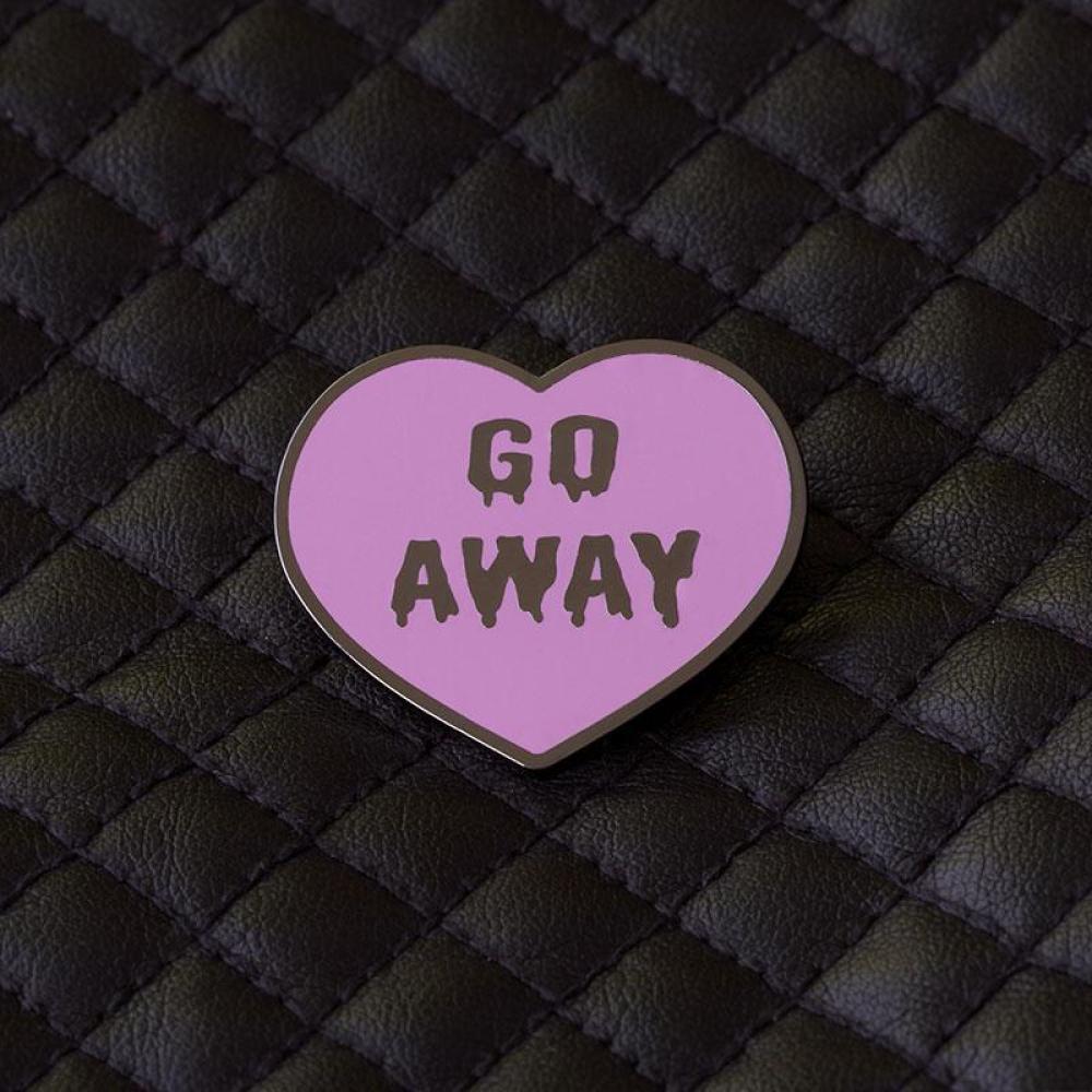 Go Away Pin TeeTurtle