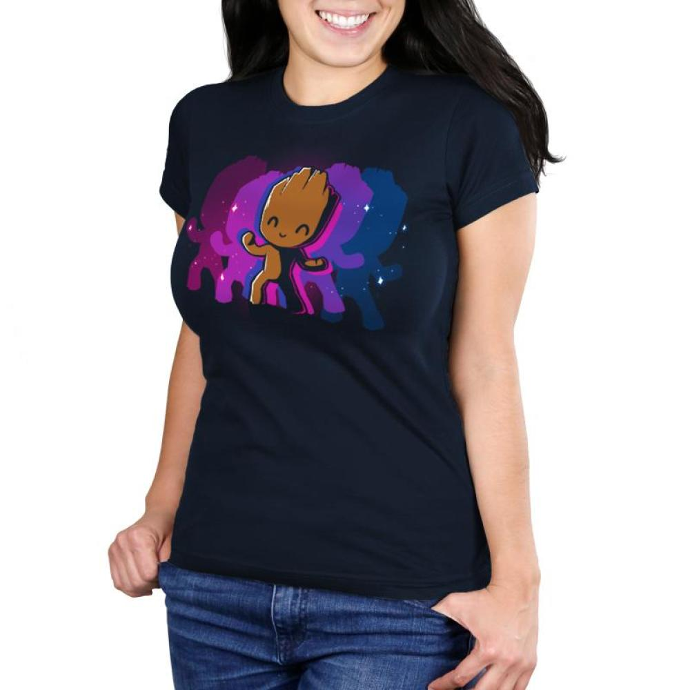 Dancing Groot Women's Ultra Slim T-Shirt Model Marvel TeeTurtle