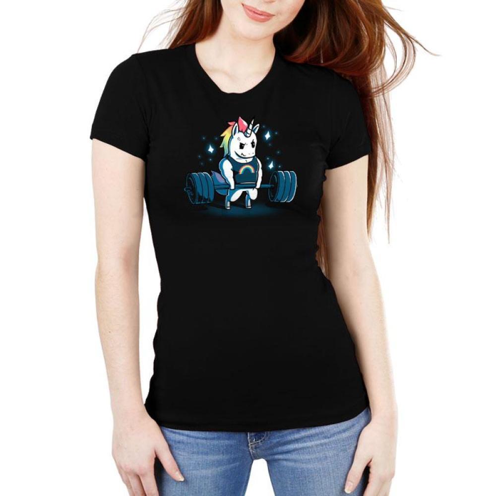 Gym Unicorn Women's Ultra Slim T-Shirt Model TeeTurtle