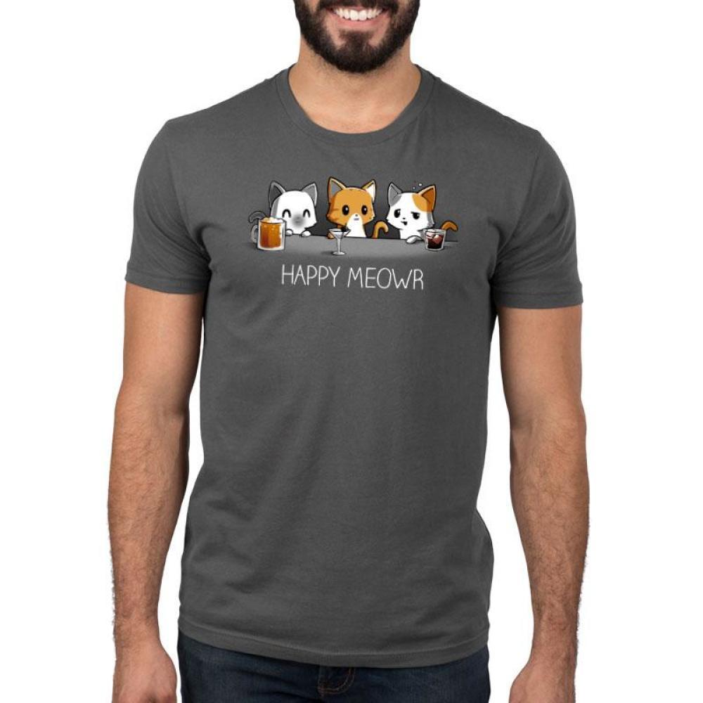 Happy Meowr Standard T-Shirt Model TeeTurtle