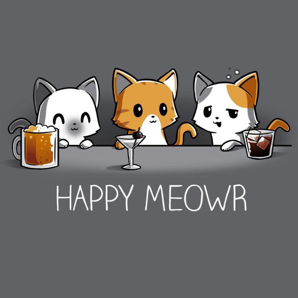 Happy Meowr T-Shirt TeeTurtle