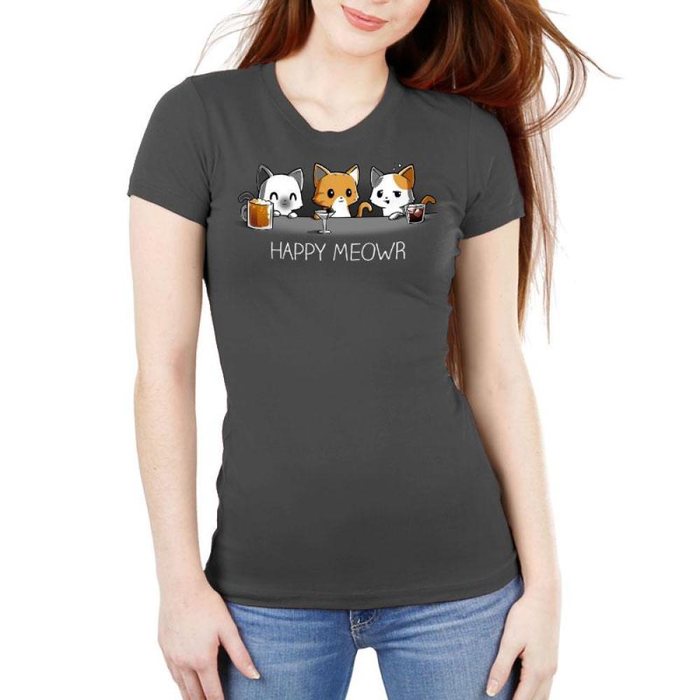 Happy Meowr Women's Ultra Slim T-Shirt Model TeeTurtle