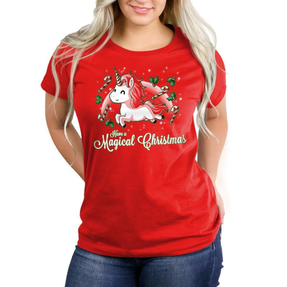 Have a Magical Christmas Women's Relaxed Fit T-Shirt Model TeeTurtle