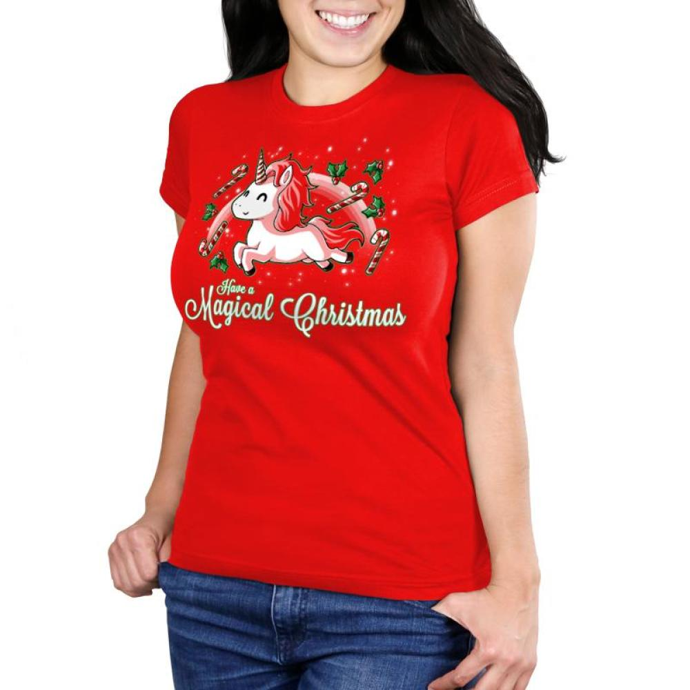 Have a Magical Christmas Women's Ultra Slim T-Shirt Model TeeTurtle