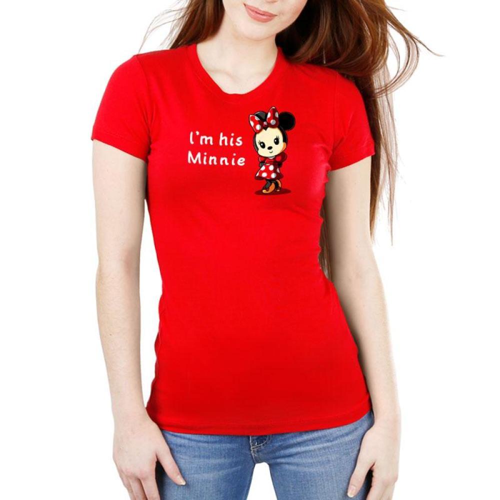 His Minnie Women's Ultra Slim T-Shirt Model Disney TeeTurtle