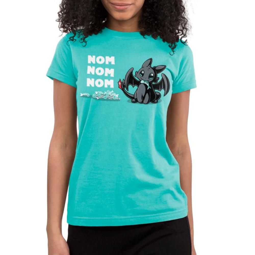 Hungry Toothless Juniors T-Shirt Model Dreamworks TeeTurtle