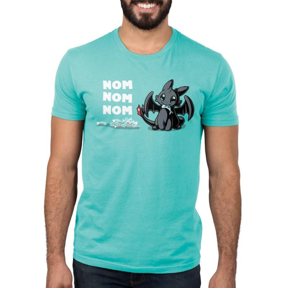 Hungry Toothless Men's T-Shirt Model Dreamworks TeeTurtle