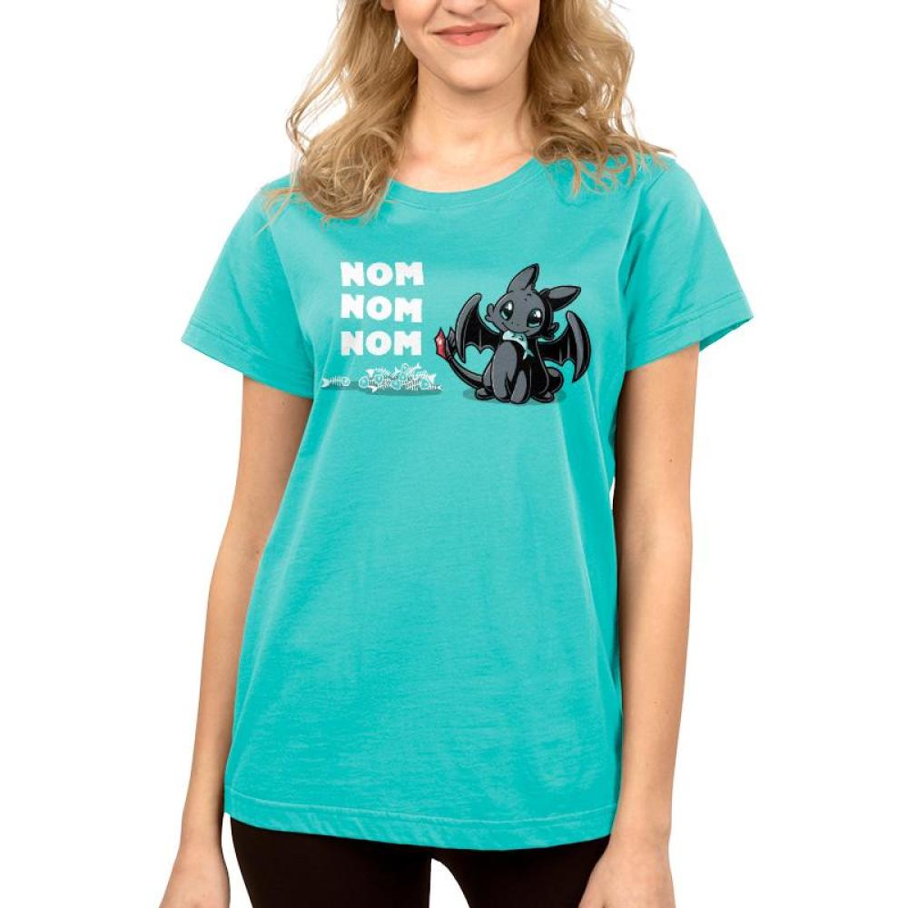 Hungry Toothless Women's T-Shirt Model Dreamworks TeeTurtle