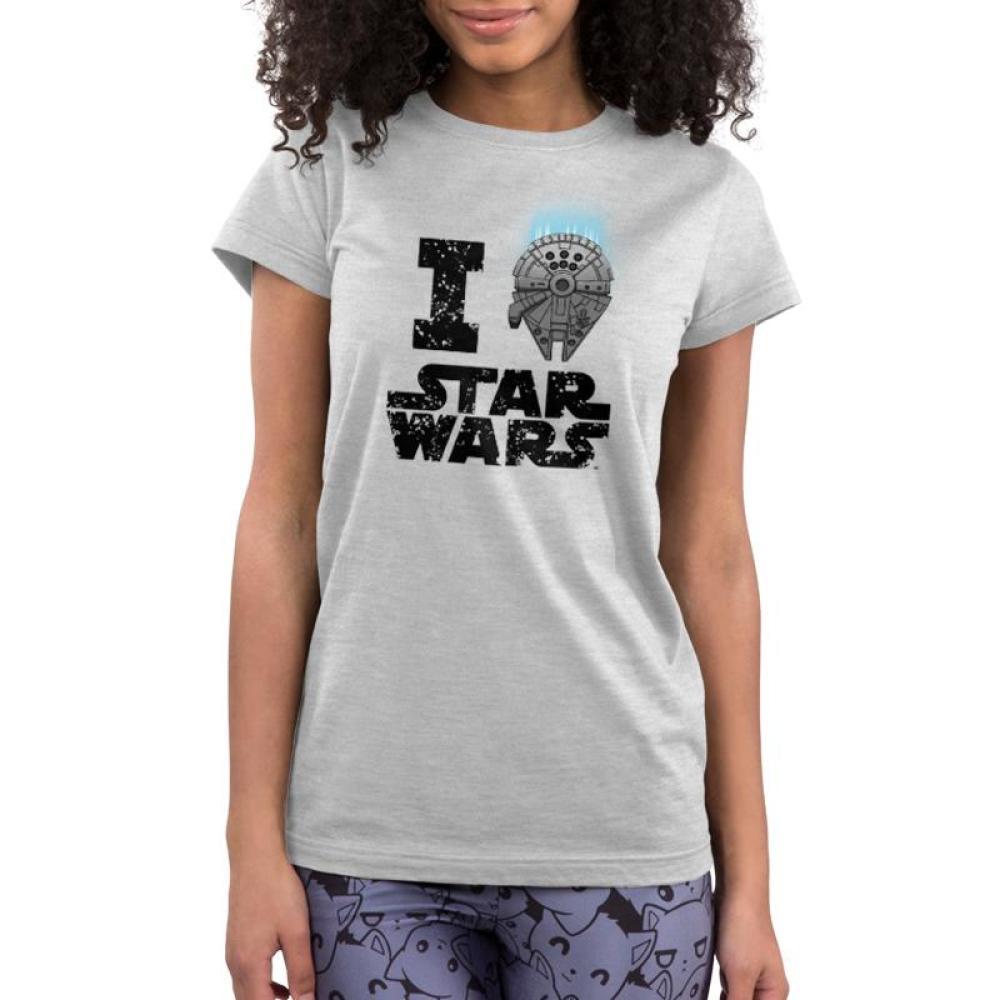 I Heart Star Wars Juniors T-Shirt Model Star Wars TeeTurtle