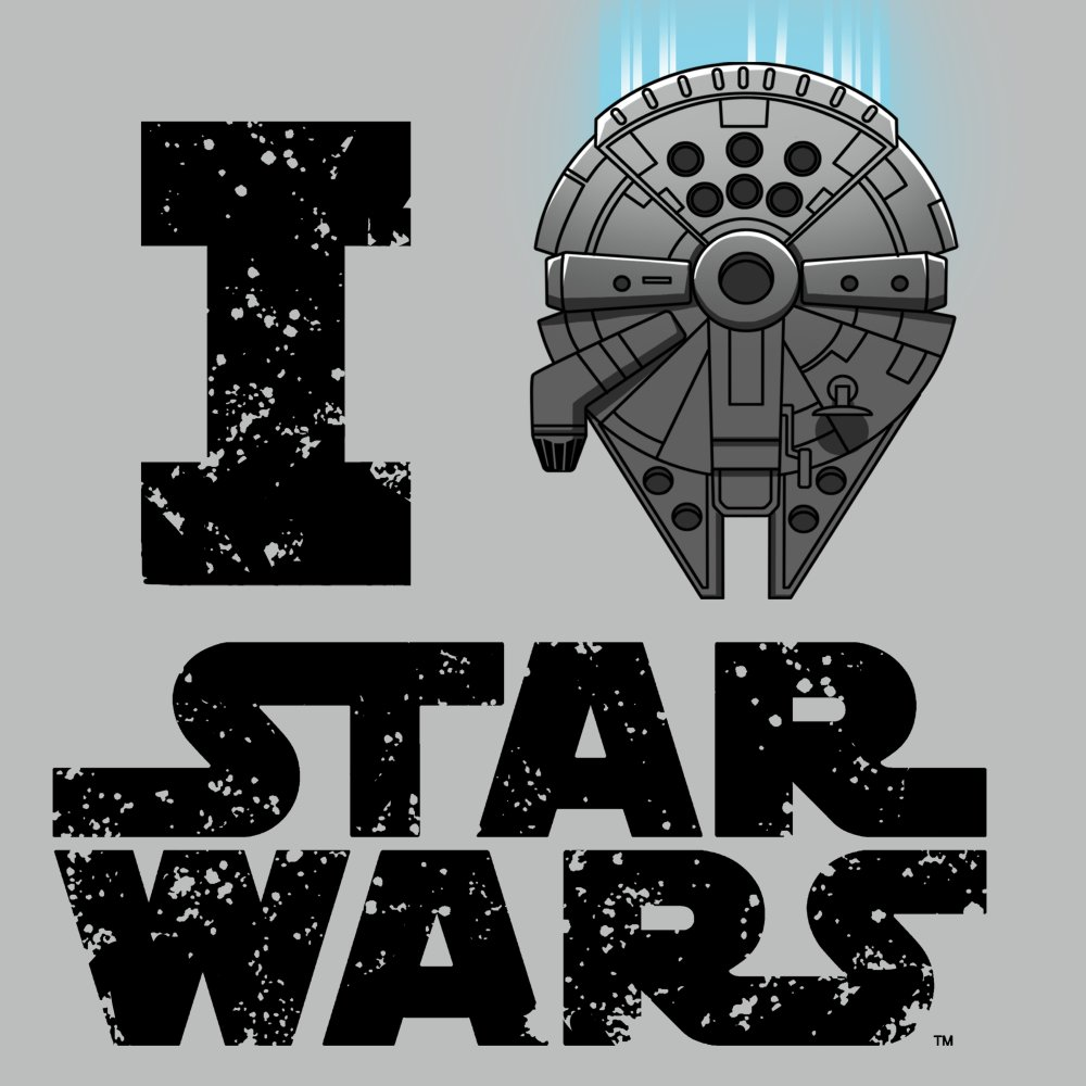 I Heart Star Wars T-Shirt Star Wars TeeTurtle