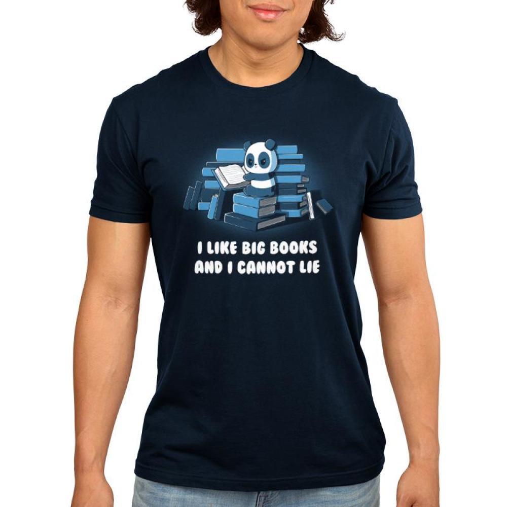 I like BIG books Men's T-Shirt Model TeeTurtle