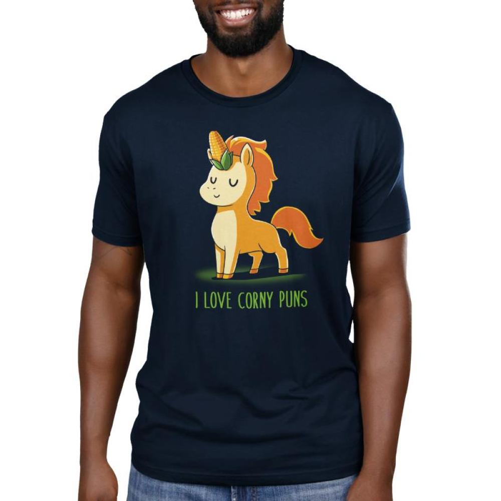 I Love Corny Puns Men's T-Shirt Model TeeTurtle