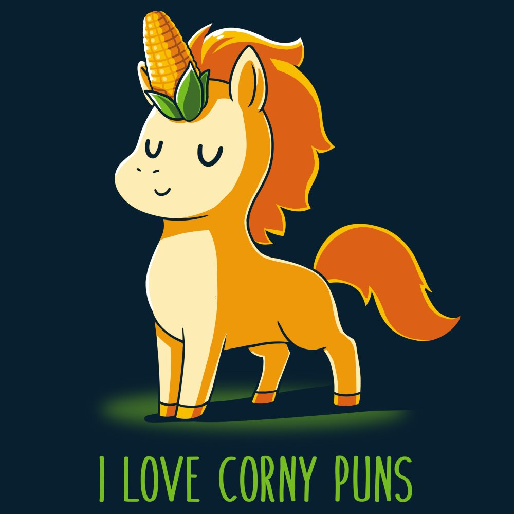 I Love Corny Puns T-Shirt TeeTurtle