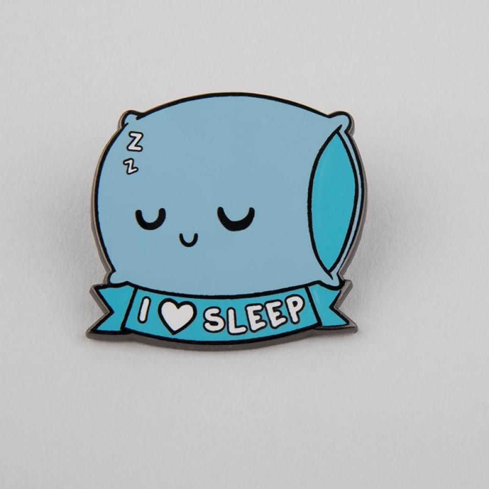 I <3 Sleep Charm Pin TeeTurtle