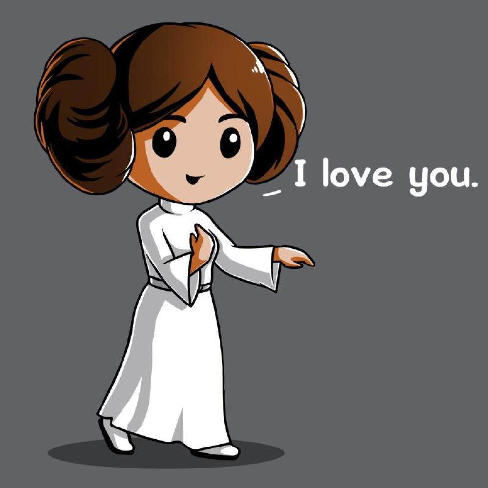 I Love You... t-shirt Star Wars TeeTurtle