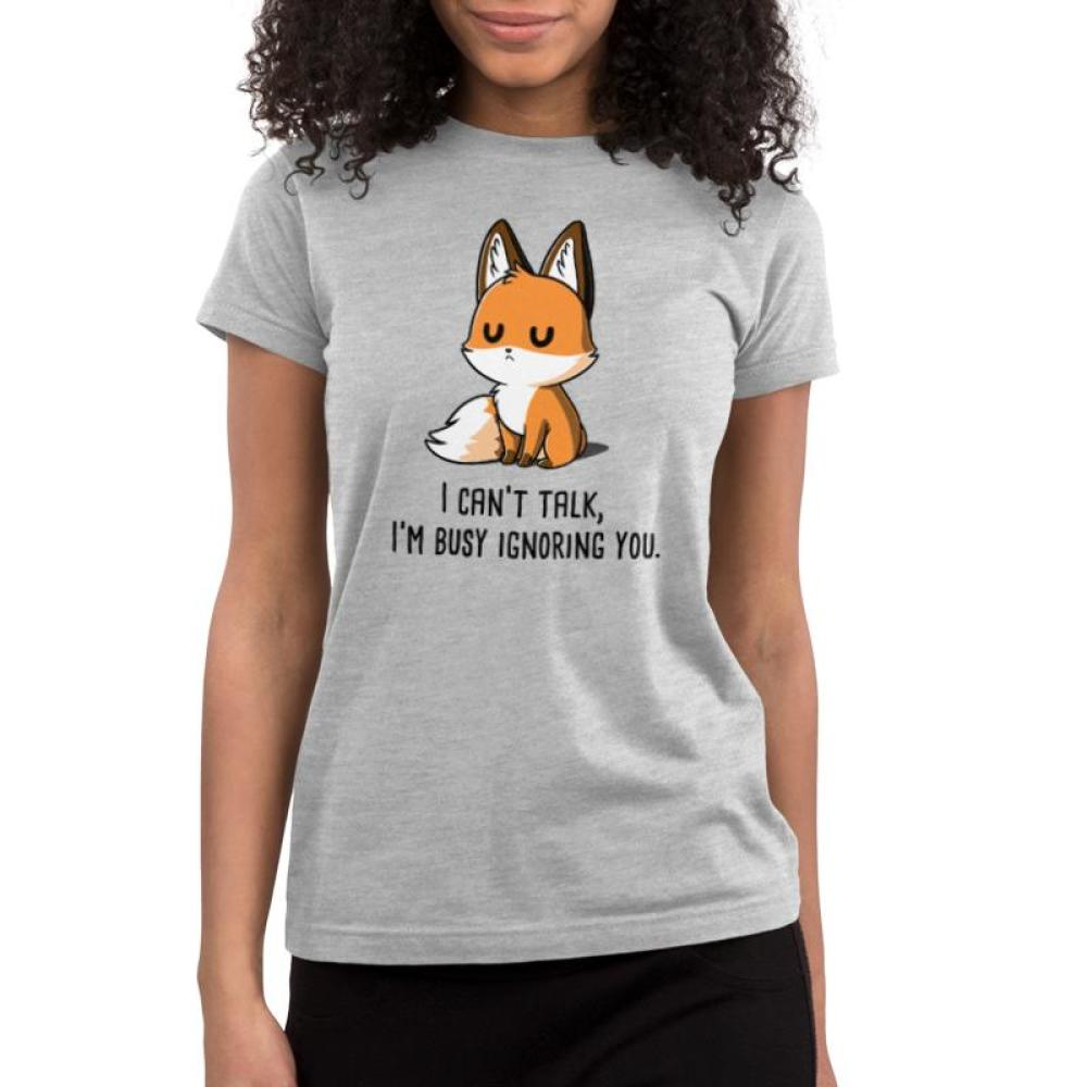 I'm Busy Ignoring You Juniors T-Shirt Model TeeTurtle