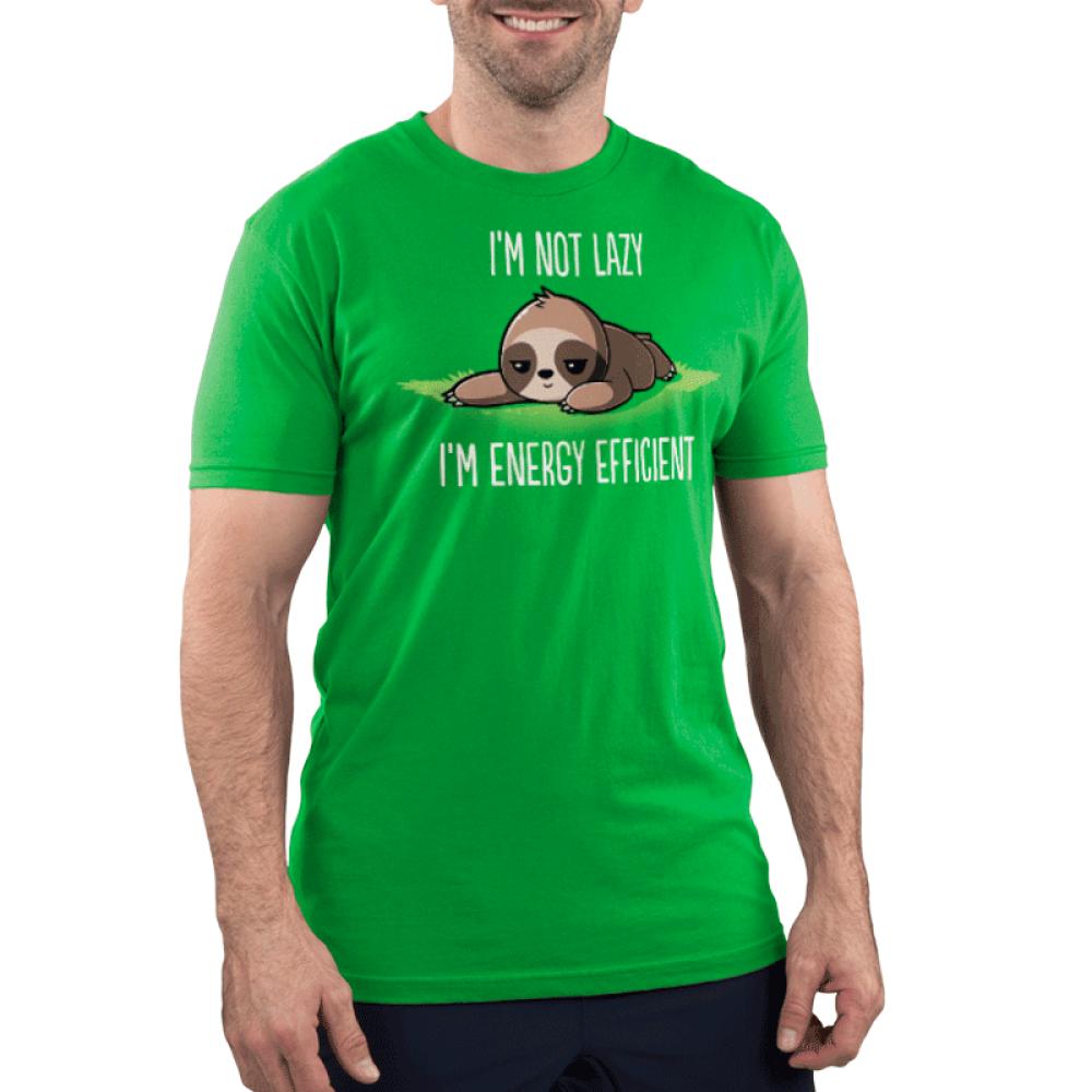 I'm Energy Efficient Men's T-Shirt Model TeeTurtle