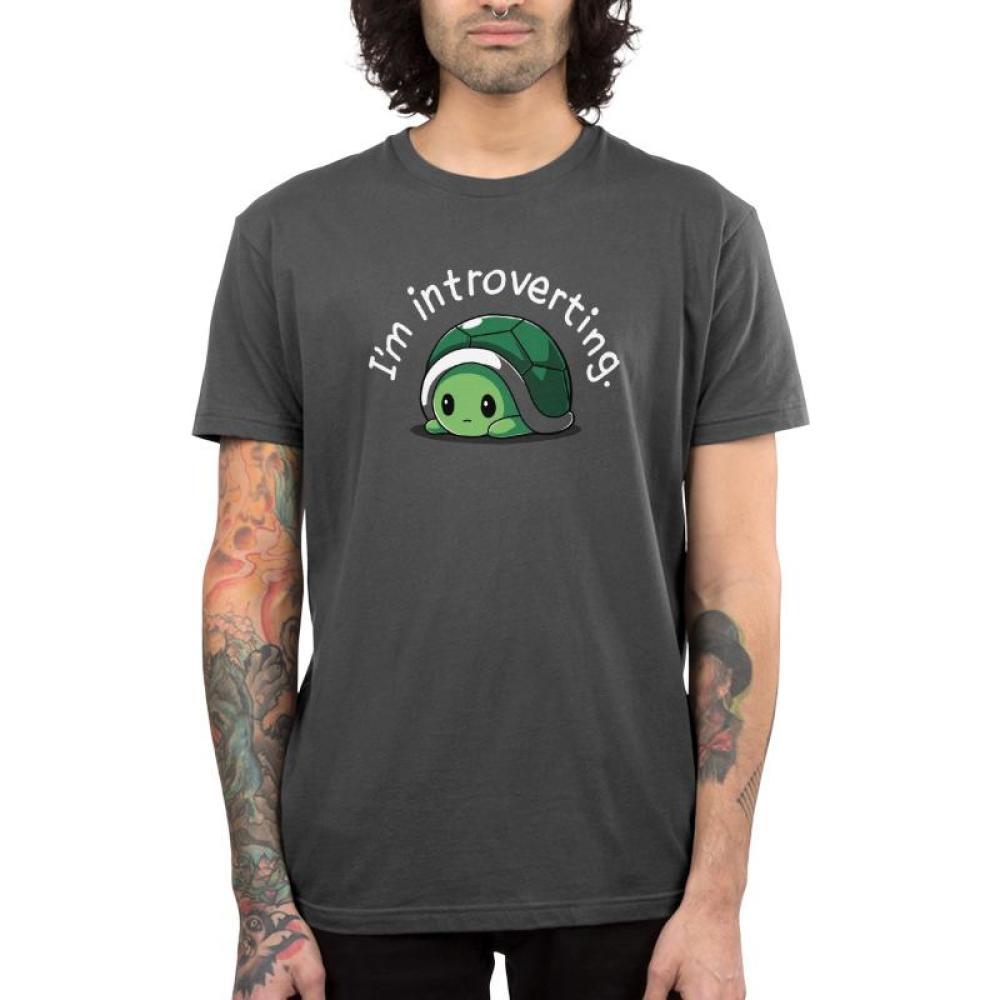 I'm Introverting Men's T-Shirt Model TeeTurtle