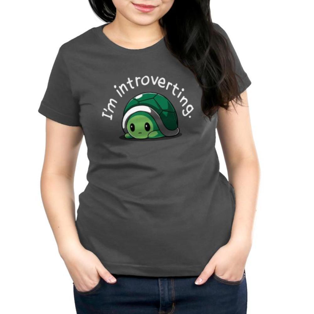 I'm Introverting Women's T-Shirt Model TeeTurtle