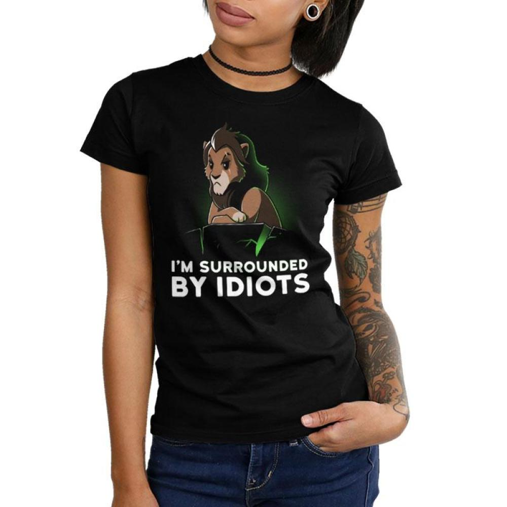 I'm Surrounded By Idiots Juniors T-Shirt Model Disney TeeTurtle
