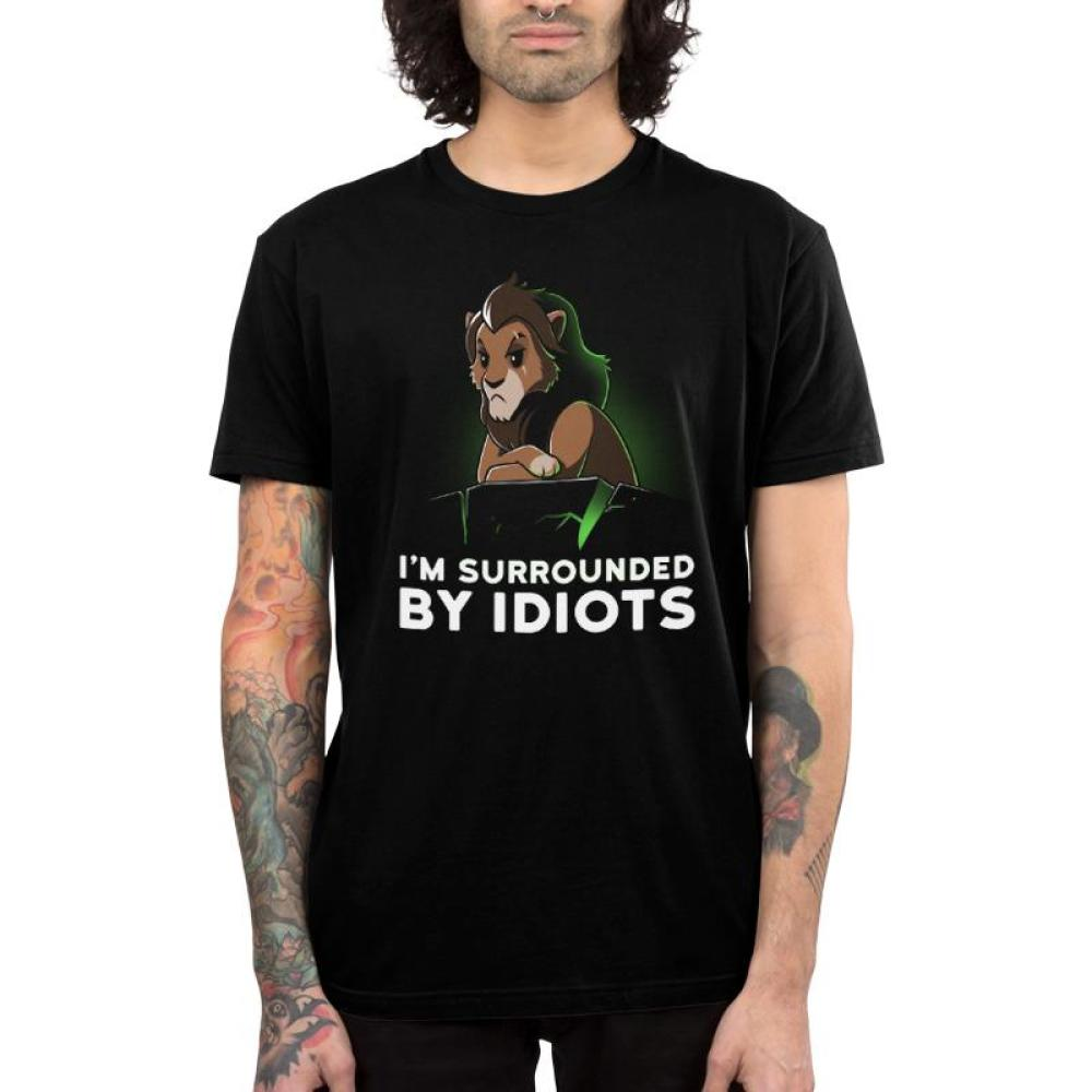 I'm Surrounded By Idiots Men's T-Shirt Model Disney TeeTurtle