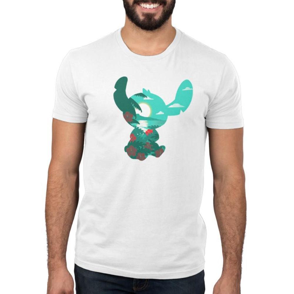 Island Stitch Men's T-Shirt Model Disney TeeTurtle