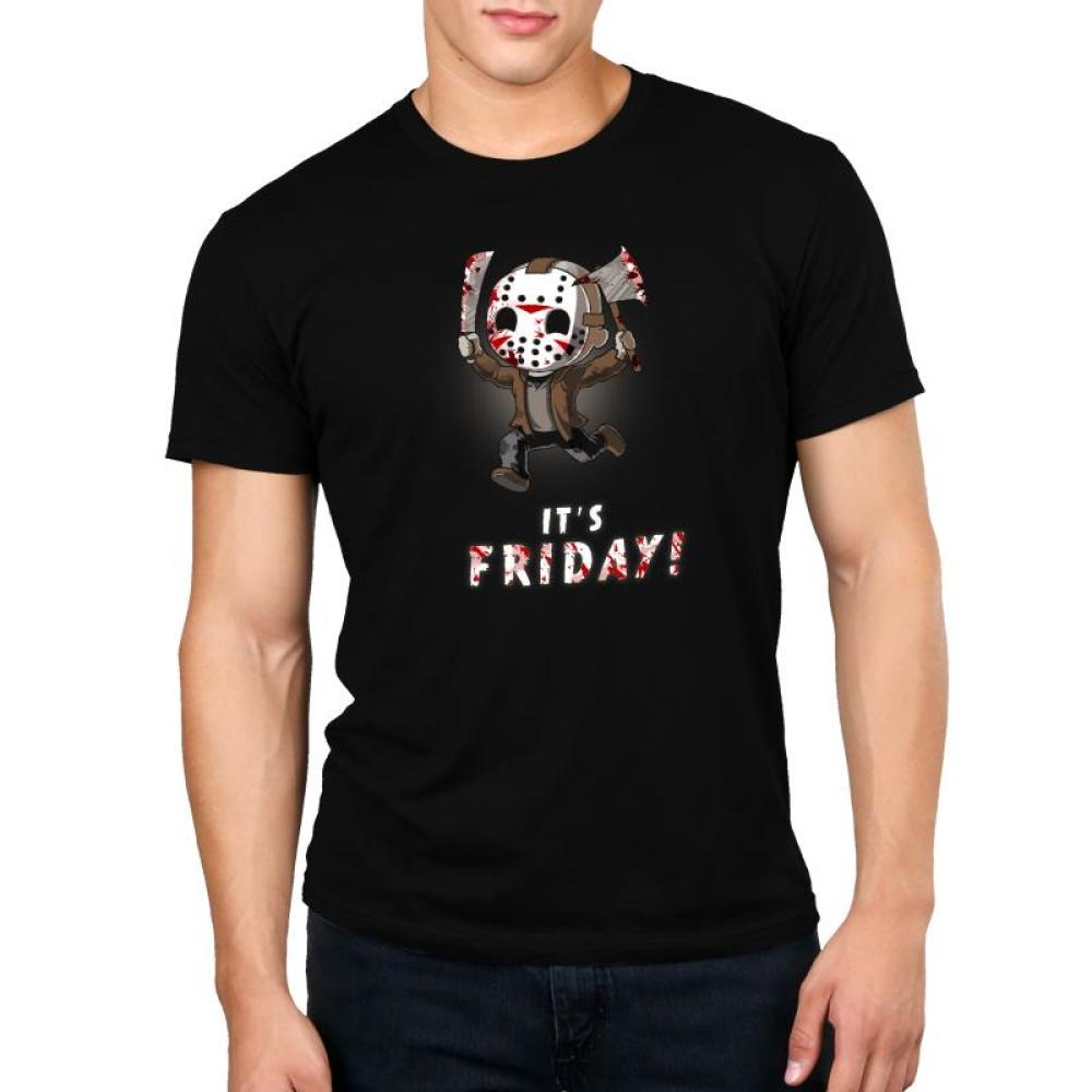 It's Friday! Standard Unisex t-shirt model Friday the 13th TeeTurtle