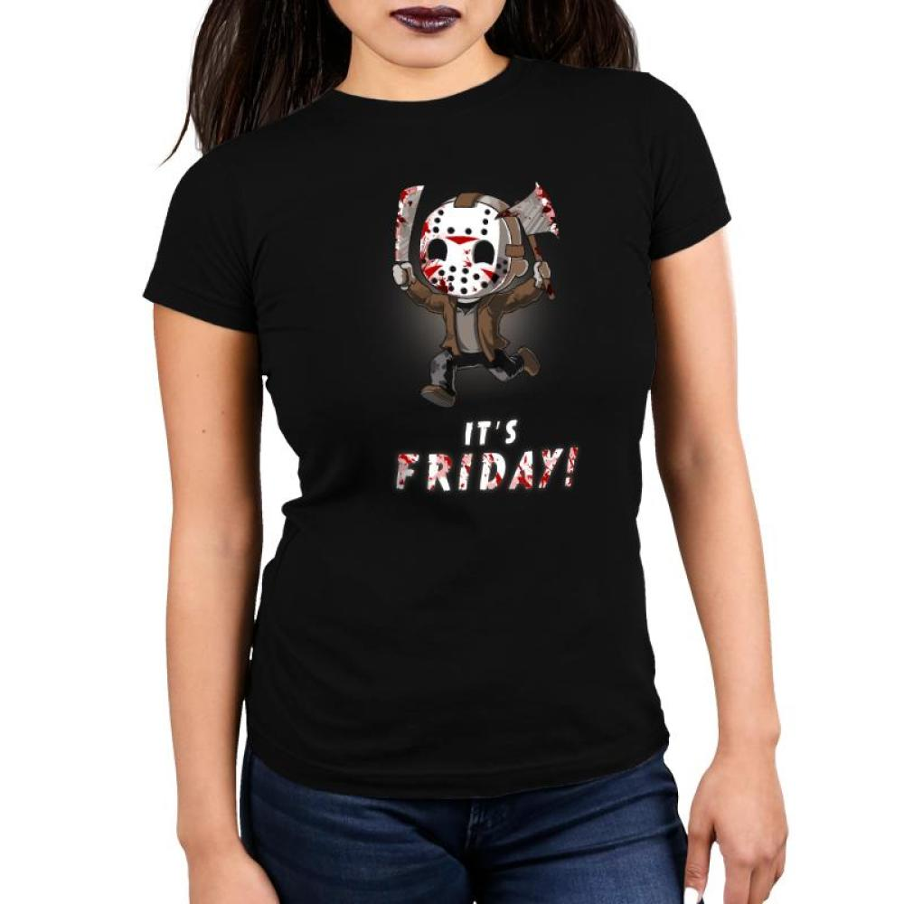 It's Friday! Women's Ultra Slim t-shirt model Friday the 13th TeeTurtle