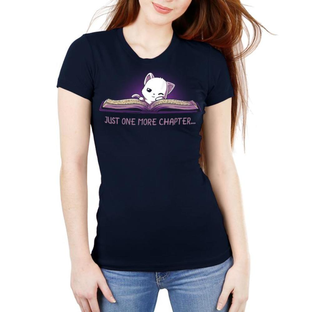 Just One More Chapter Women's Ultra Slim T-Shirt Model TeeTurtle