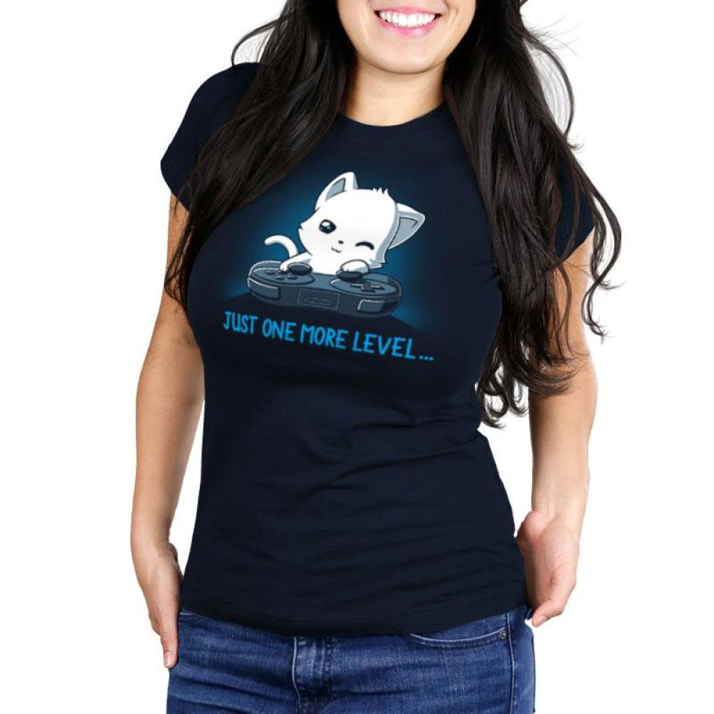 Just One More Level Juniors T-Shirt Model TeeTurtle