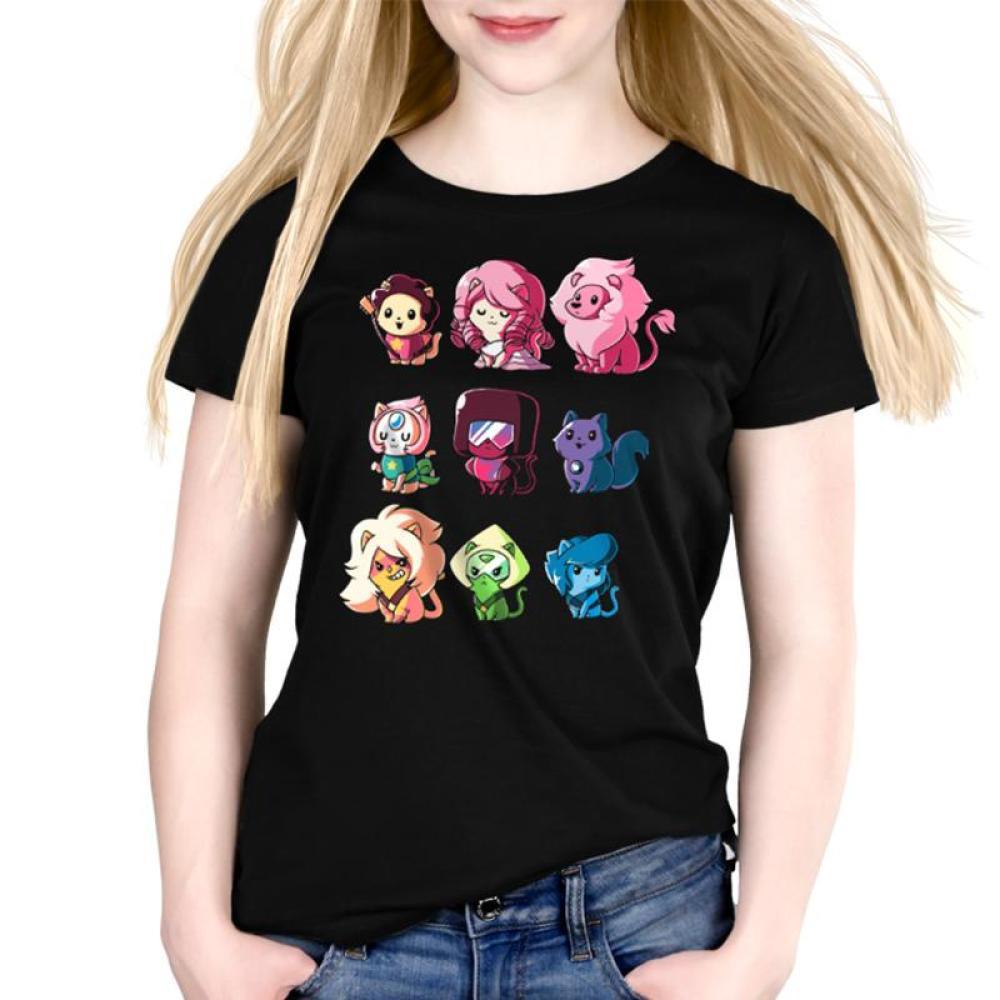 Kitten Universe Women's Relaxed Fit T-Shirt Model Steven Universe TeeTurtle