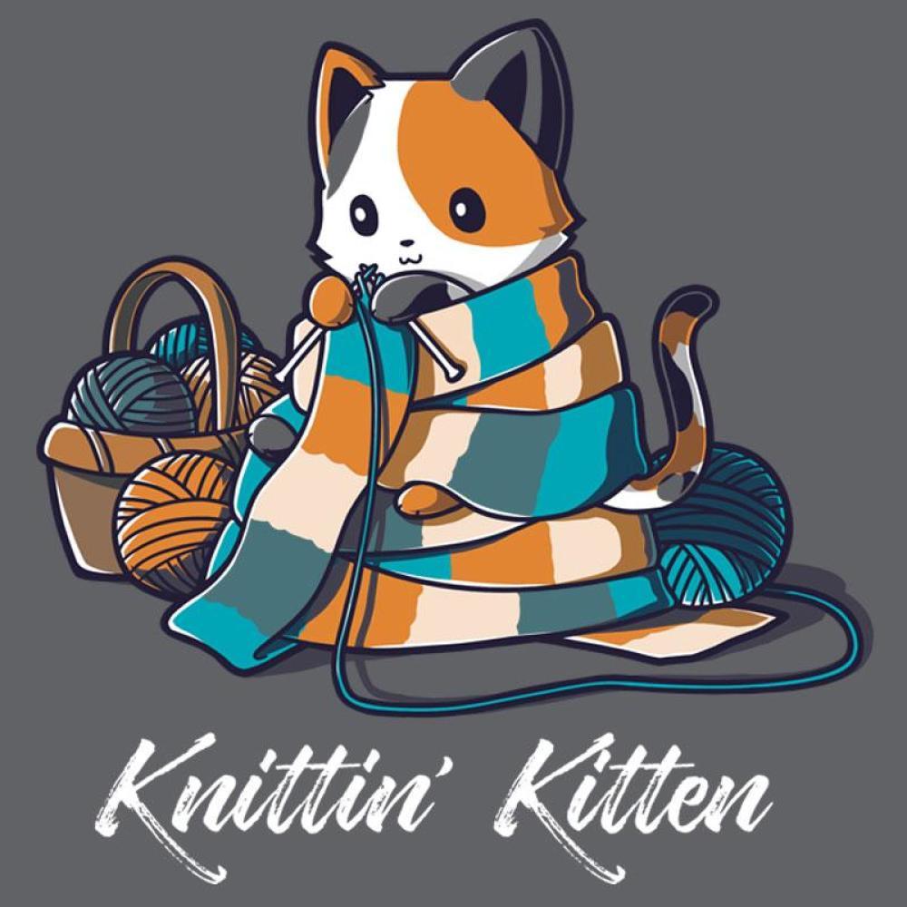 Knittin' Kitten T-Shirt TeeTurtle