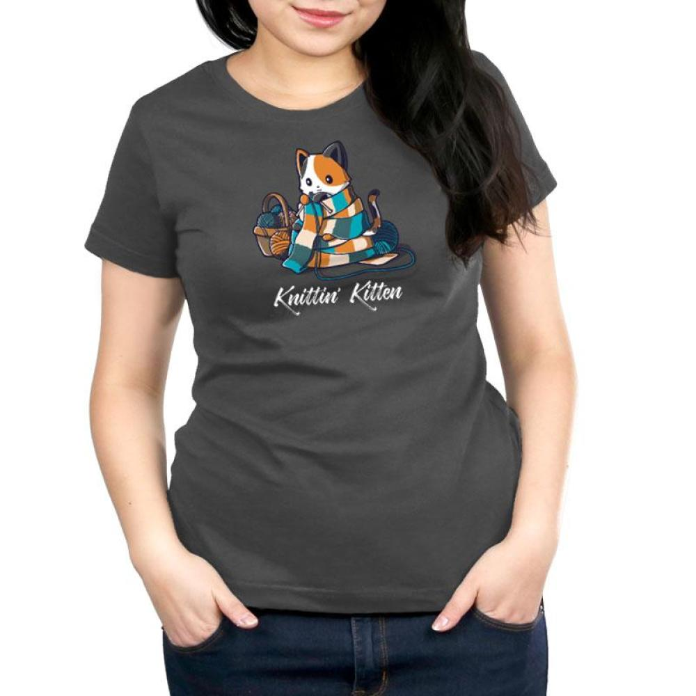 Knittin' Kitten Women's Relaxed Fit T-Shirt Model TeeTurtle