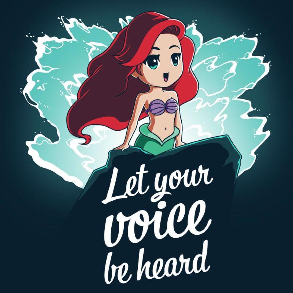 Let Your Voice Be Heard T-Shirt Disney TeeTurtle