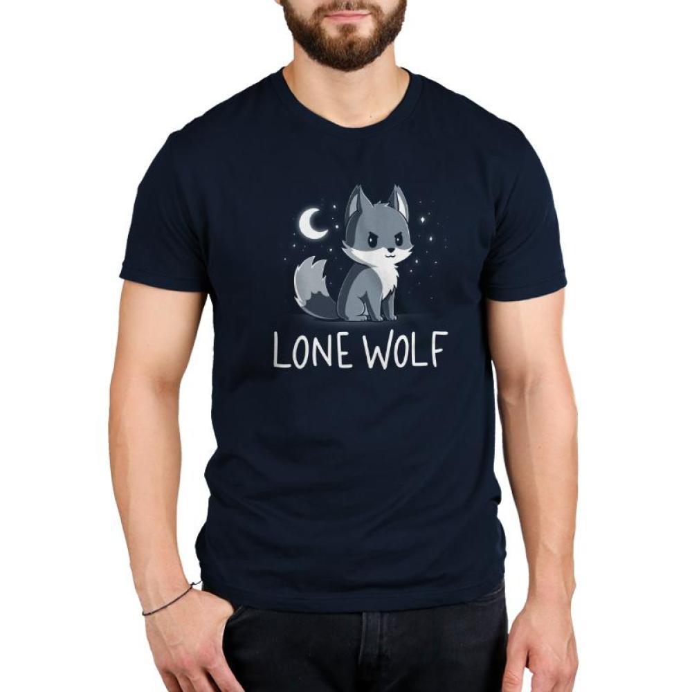 Lone Wolf Men's T-Shirt Model TeeTurtle