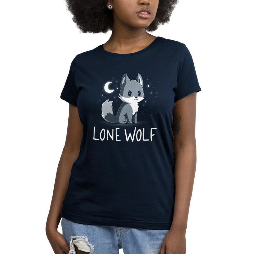 Lone Wolf Women's T-Shirt Model TeeTurtle