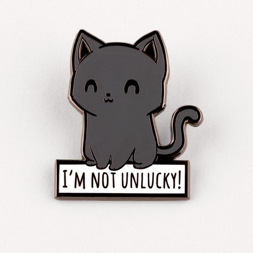 Lucky Kitty Charm Pin TeeTurtle