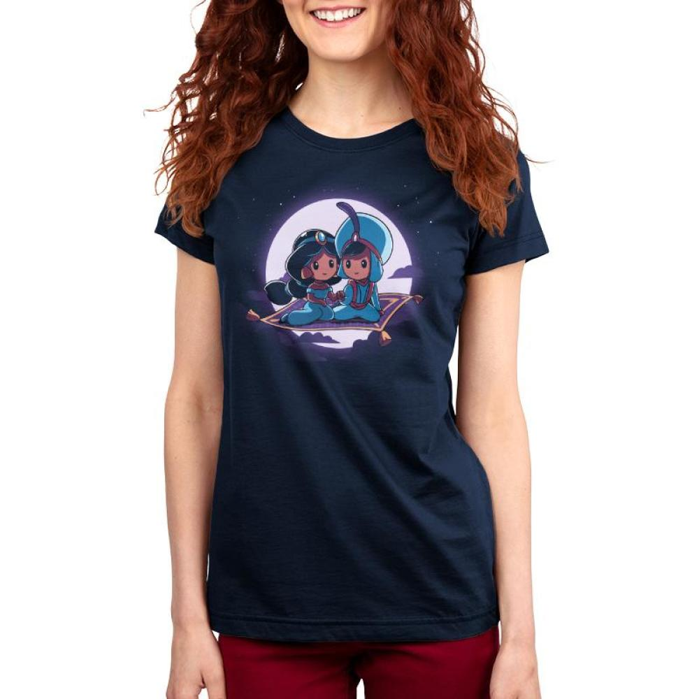 Magic Carpet Ride Women's T-Shirt Model Disney TeeTurtle
