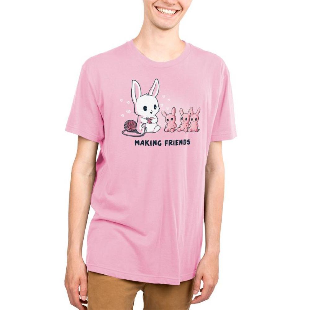 Making Friends Men's T-Shirt Model TeeTurtle