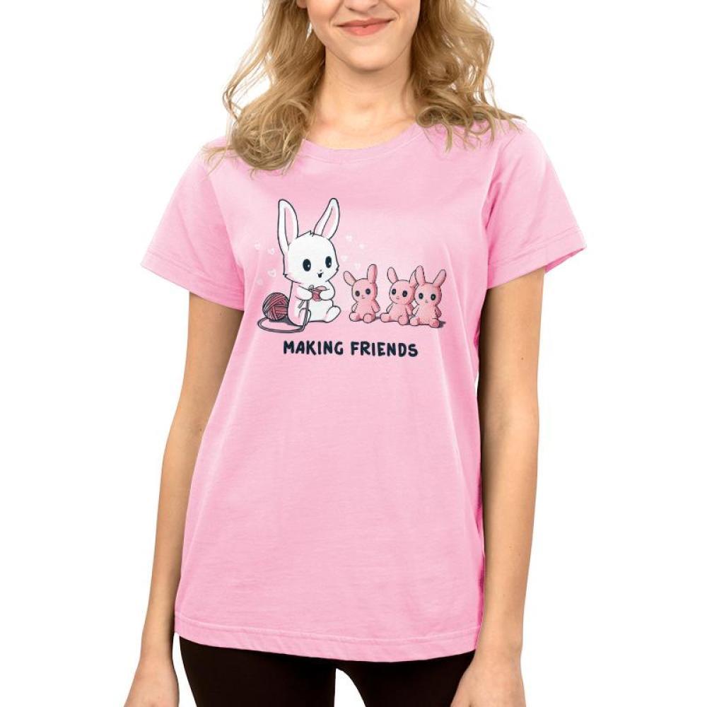 Making Friends Women's T-Shirt Model TeeTurtle